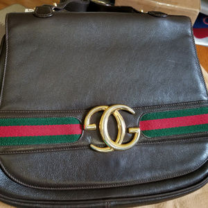 Vintage Gucci Leather Shoulder bag